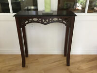 Small Bombay style console table. - Estate Sale