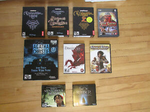 Assortment of PC Games -- 9 Classic RPG and Adventure Games --