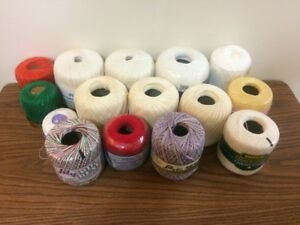 Misc crochet/knitting thread/yarn various colours and sizes
