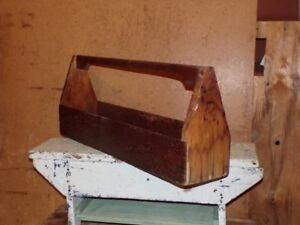 Carpenter's Wooden Tool Tote Box
