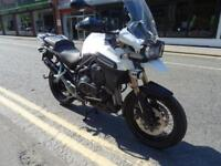 2015 TRIUMPH TIGER EXPLORER XC IN WHITE WITH 14718 MILES