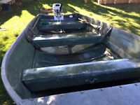 14 Ft aluminum boat,motor, and trailer