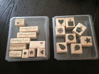 Stampin' Up! wood stamp sets $6 each