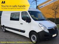 2013/63 Vauxhall Movano 3500 CDTI L3H2 Lwb Crew,Mess,Welfare,Mobile Workshop van