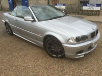 2002 '02' BMW 330i Sport AUTO Cabriolet. Petrol. Automatic. Convertible. Px Swap