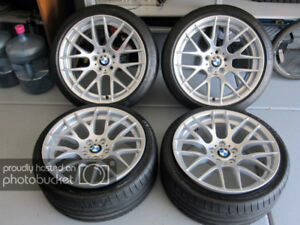 """GENUINE BMW M3 19"""" COMPETITION WHEELS (STYLE 359M) + TIRES"""