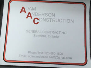 Contracting / handyman Stratford Kitchener Area image 1