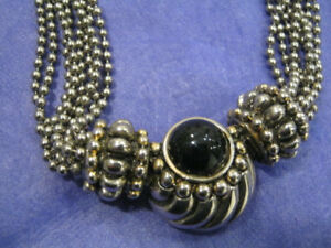 Silver Bead Costume Jewelry Necklace - Gorgeous