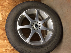 4 of Nokian Hakkapeliitta R suv with alloy wheels. 235/65/17