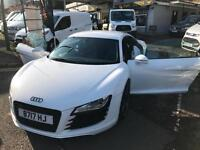 2009 58 AUDI R8 4.2 FSI V8 QUATTRO SPORTS COUPE / WHITE / FSH