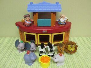 Arche de Noé et sa Femme Little People 4 Couples D'animaux