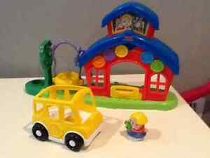 Fisher price little people school house and bus