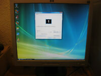 "HP flat screen 19"" LCD monitors"