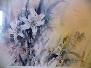 """Wildflower Lithograph, Signed by Brent Heighton """"Spring Lilies"""" Stratford Kitchener Area image 2"""