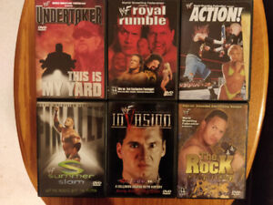Lot of 6 WWE WWF DVD Movies