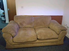 Brown large two seater sofa, Good condition