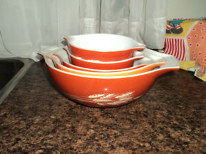 Vintage Pyrex Cinderella Nesting Bowls-Reduced to $65.00