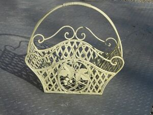 antique steel basket