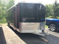 27ft Feather light car in closed car trailer
