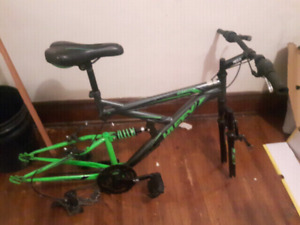 Huffy mountain bike frame. 12 speed. 30$ in great condition.