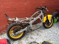 Honda Chassis With Log Book And Wheels And Reg