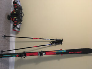 Downhill Fischer Skis, Nordica boots and poles