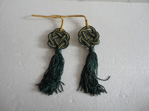 Brand new set of 2 green hanging tassels London Ontario image 1