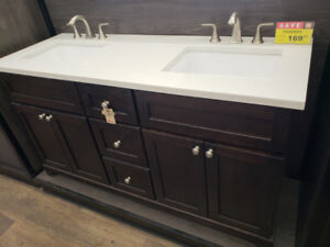 BATHROOM VANITY CLEARANCE w/QUARTZ TOP