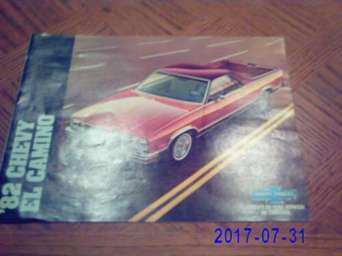 1982  Chevrolet  El  Camino  Original  Sales  Catalog