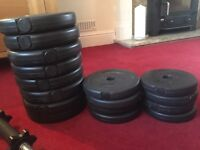 Physionics bundle of weights and x2 weight lift holders included
