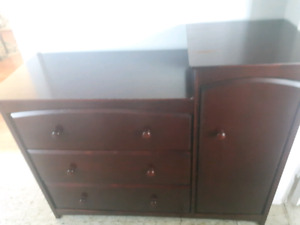Dark Brown Dresser & Bookshelf