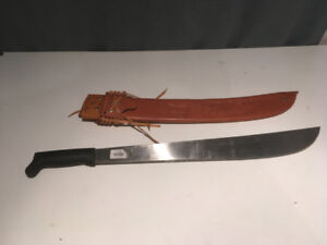 Machete and Leather Sheathe from Costa Rica