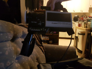 Vintage video camera and all equipment to record to vhs