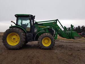 7200R JD TRACTOR ,FW ASSIST,QUICK ATTACH PACKAGE, POWERSHIFT Moose Jaw Regina Area image 2