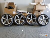 """19"""" TTRS Style Alloy Wheels & Tyres for an VW, Audi, Seat ETC 5x112"""
