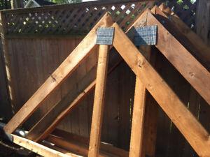 Fermes de toit (Trusts) pour cabanon de dimension de 8' x 12'