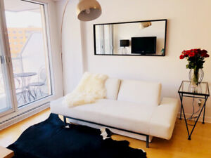 Fully furnished 1 bedroom apartment + indoor parking