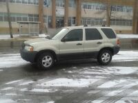 2004 Ford Escape SUV, Crossover,NO RUST,ONLY170000 KMS
