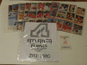 LOT DE 68 CARTES DE HOCKEY DES EX-FLAMES D'ATLANTA 1972 A 80