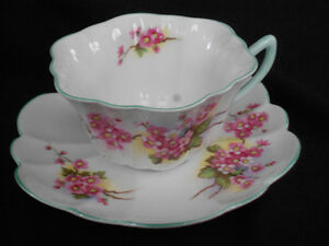 Vintage Shelley Tea Cup & Saucer Scalloped