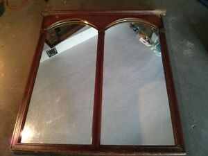 "Huge Antique Mirror Nice Detail 51"" by 47"""