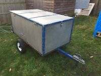 Car trailer with lock & working electrics