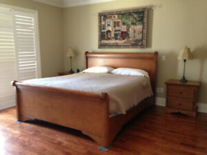 Solid Wood King Bedroom Set  **EXCELLENT CONDITION**