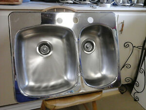new wessen stainless steel sink and half