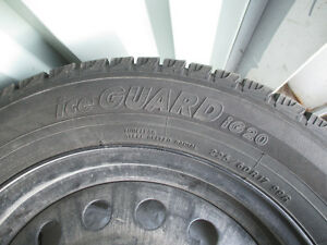 Set of 4 Winter Tires with Steel Rims included West Island Greater Montréal image 3