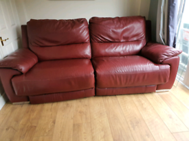 Large reclining 2 seater sofa and armchair