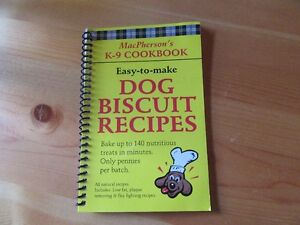DOG COOK BOOK - REDUCED!!!!
