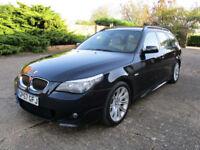 57 BMW 520 2.0TD Diesel M Sport Estate,FBMWSH, Just Serviced. Black!