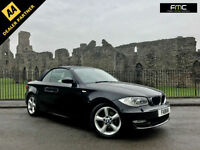 2008 58 BMW 120i SE Convertible Black / Cream Leather
