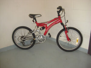 20'' bike QUAKE INFINITY 6 speed full suspension a great gift